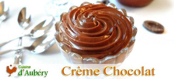 La Crème Pâtissière au Chocolat Noir de Frédéric Bau (Ecole Valrhona)