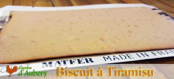 Recette du Biscuit à Tiramisu