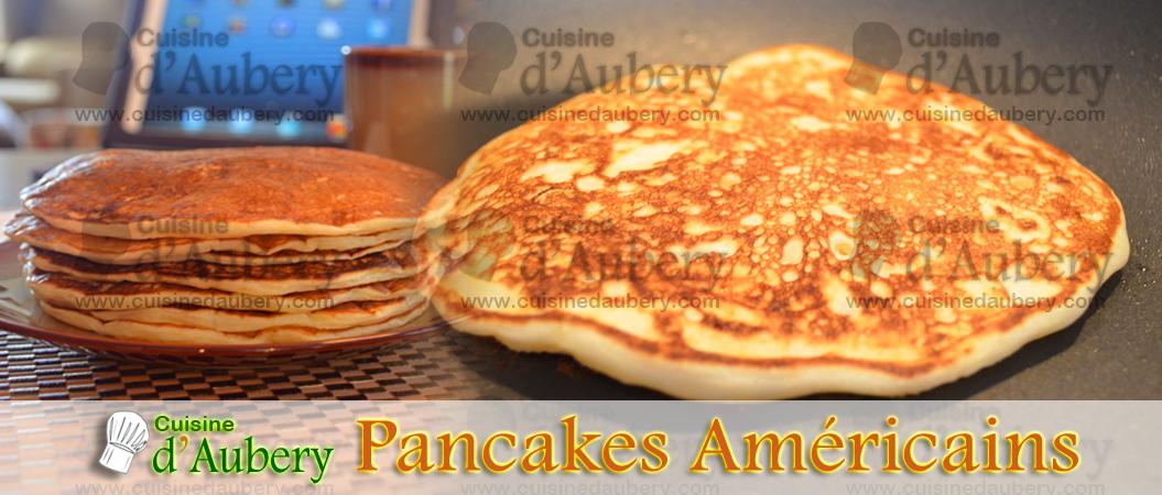 Recette des pancakes am ricains cuisine d 39 aubery - Recette pancakes herve cuisine ...