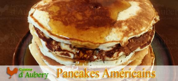 Les pancakes am ricains super moelleux et m ga a riens - Recette pancakes herve cuisine ...