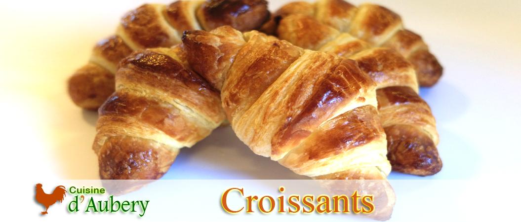 Recette des Croissants (recette de M.O.F)