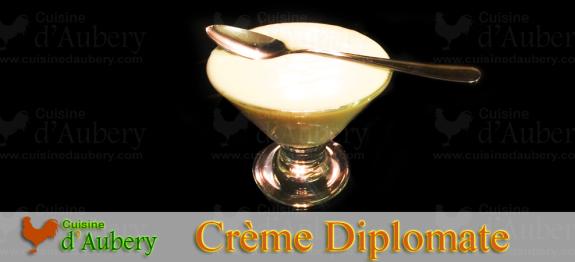 Recette de la Crème Diplomate «Crème Légère» (recette de M.O.F)