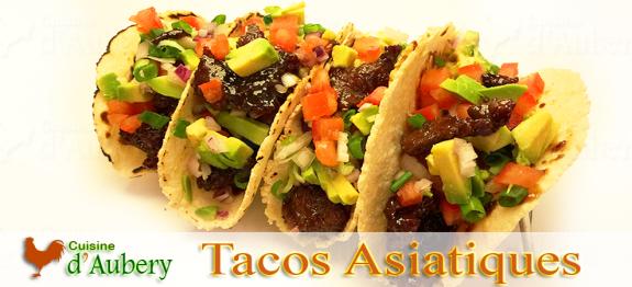 Un délicieux taco aux saveurs Asiatiques. Un pur produit «Fusion Food» Californien, facile, simple et exquis