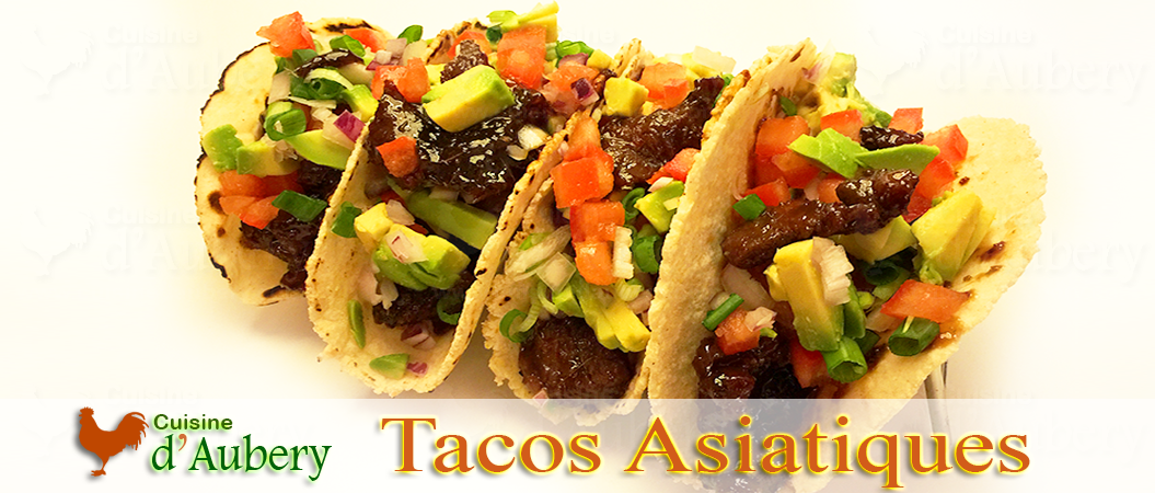 Tacos de Boeuf Asiatique (Tacos estilo Asiáticos)