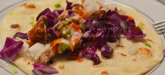 recette des tacos faciles au poulet cuisine d 39 aubery. Black Bedroom Furniture Sets. Home Design Ideas