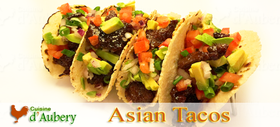 Take your tacos to the next level with Asian flavors. You will love this fusion taco ! When Asia meets Mexico....