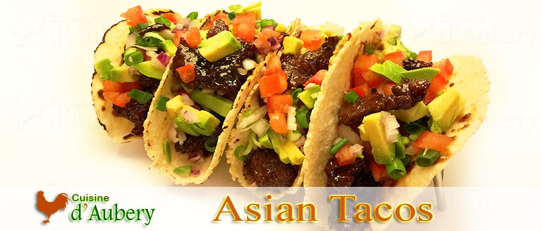 """Asian Beef Tacos (""""Tacos estilo Asiáticos"""")"""