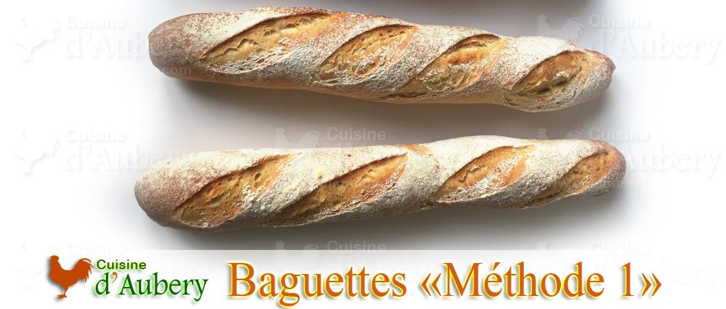 Recette des Baguettes (Méthode 1: Levée au frigo)
