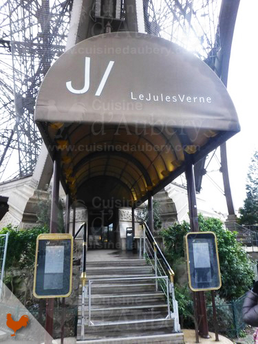 The restaurant Jules Verne inside the Tour Eiffel