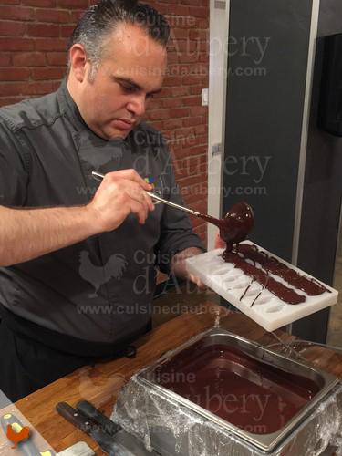 Cours de chocolats avec Christophe Morel, Maitre Chocolatier à Montréal