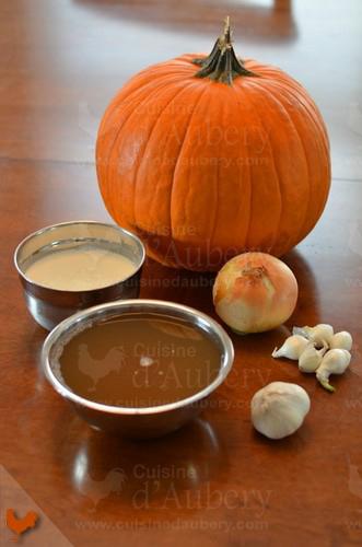 Velouté d'Halloween (crème de citrouilles et épices)