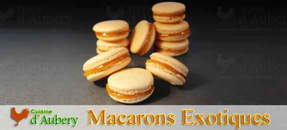 Des macarons aux saveurs exotiques de Mangue et Fruit de la passion, de vrais délices irrésistibles