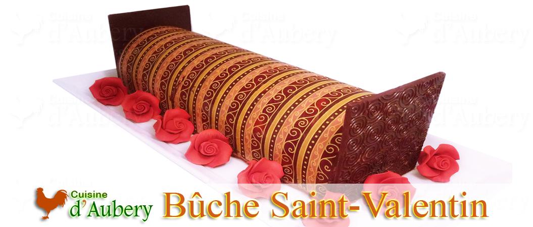 La Bûche Saint-Valentin, Chocolat-Framboise ou Passion-Tendresse