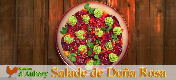Une salade fusion entre Italie et Mexique, du célèbre restaurant Doña Rosa