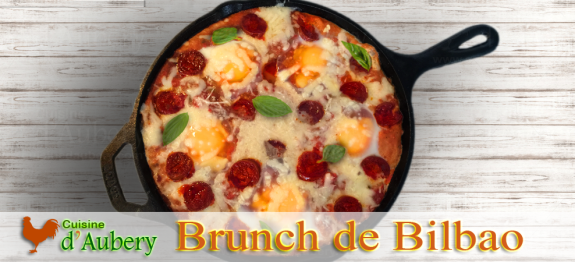 Un plat de brunch Basque, savoureux et facile
