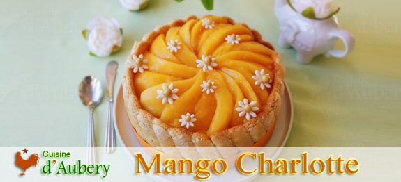 French Mango Coconut Charlotte