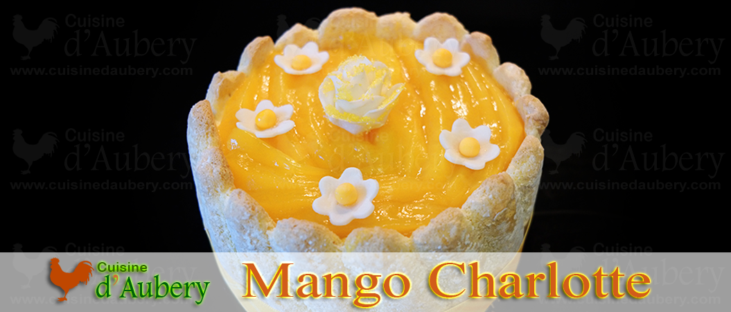 French Charlotte with mangoes and coconut