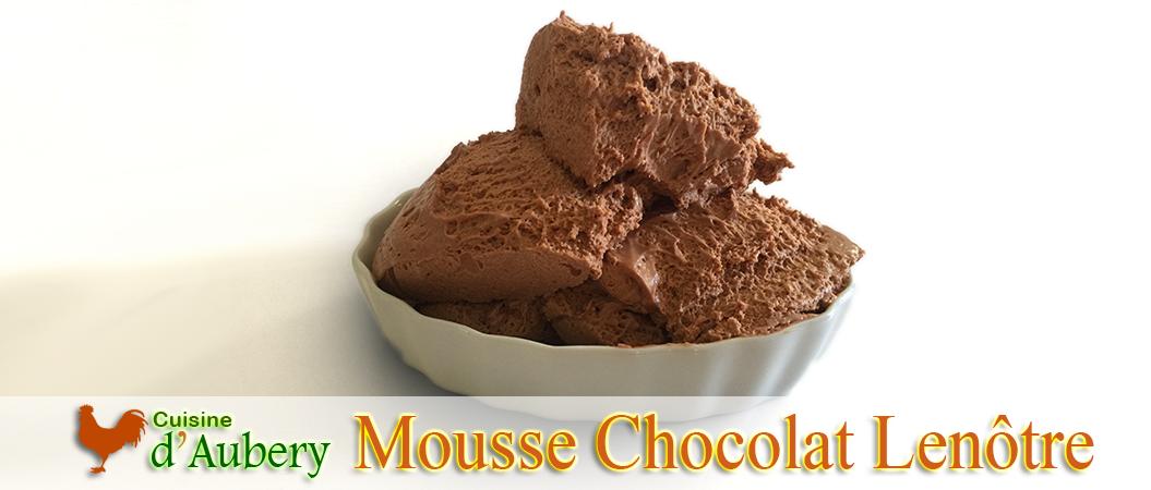 L'incroyable Mousse Chocolat à la pâte à bombe de Lenôtre