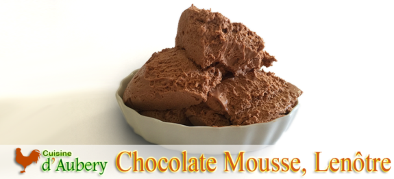 A magic recipe of Lenôtre for Chocolate Mousse lovers, this one makes mousses light and frothy but also solid so they can hold a long time at room temperature as well as in layer cakes