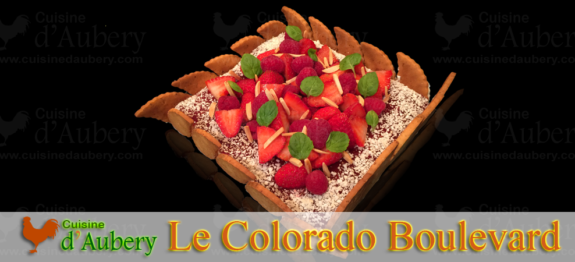 Une tarte Américaine, une pure gourmandise avec des saveurs d'amande, de fruits rouges et de vanille...