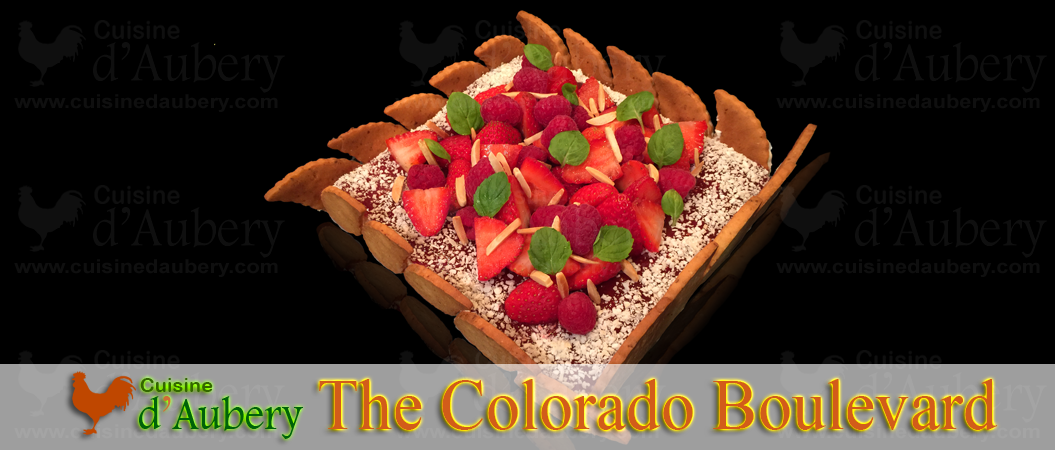 "Strawberry Raspberry cake ""Colorado Boulevard"""