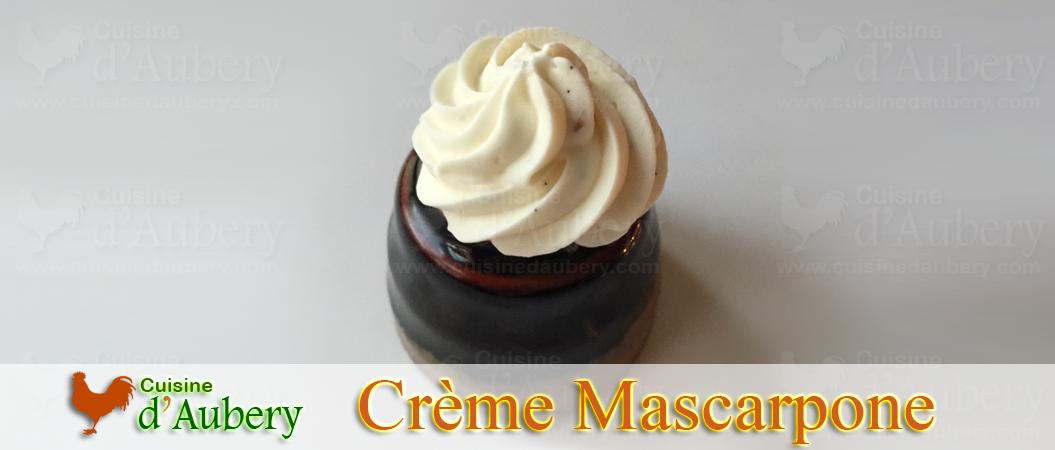 La Crème Mascarpone Rapide de Michalak (méthode 1 : crème montée)