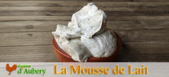 La Mousse de Lait à la Vanille (recette de M.O.F)