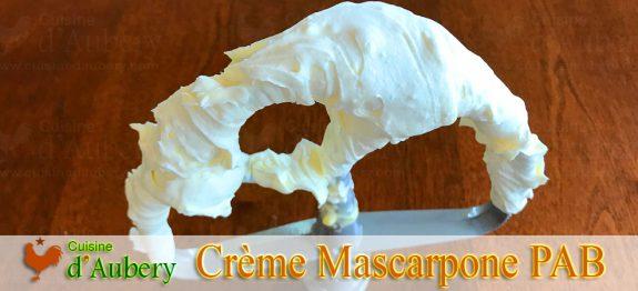 La Crème Mascarpone de Christophe Felder (méthode 2 : pâte à bombe)