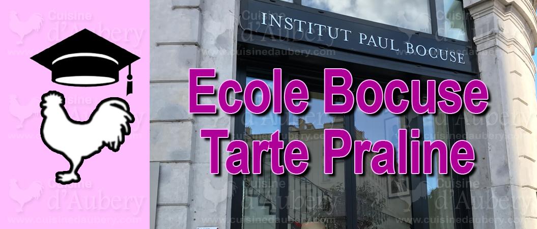 Cours de Cuisine : L'école Bocuse, la Tarte à la praline