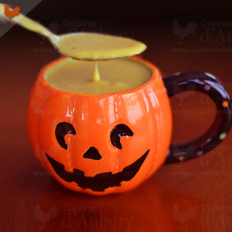 Velouté d' Halloween (crème de citrouilles et épices)