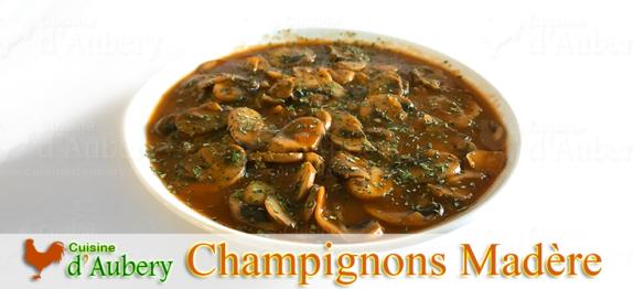 Un de mes plats préférés quand j'étais gosse, les champignons sauce madère, un délice pour les amateurs de champignons