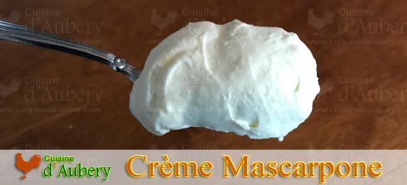 La Crème Mascarpone (montée aux Blancs d'Oeufs) de Christophe Felder