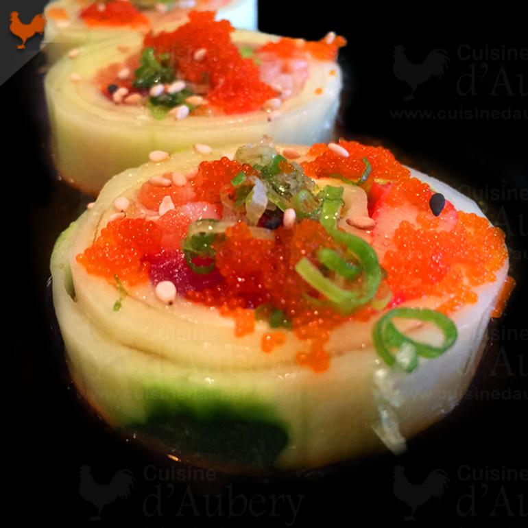 """Recette des Sushis sans Riz, les """"Cucumber Rolls"""""""