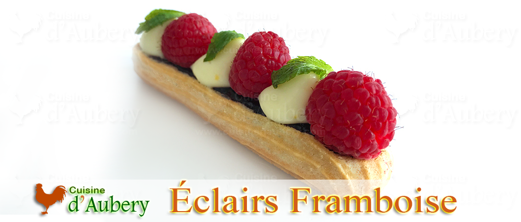 Les Éclairs Framboise Citron (siiiiiiiii bons) de M.O.F Stéphane Glacier