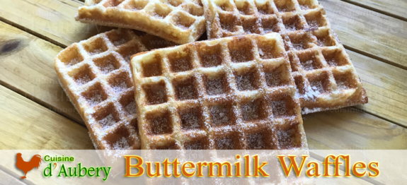 Delicious buttermilk waffles, a recipe from restaurant genius Alice Waters, founder of