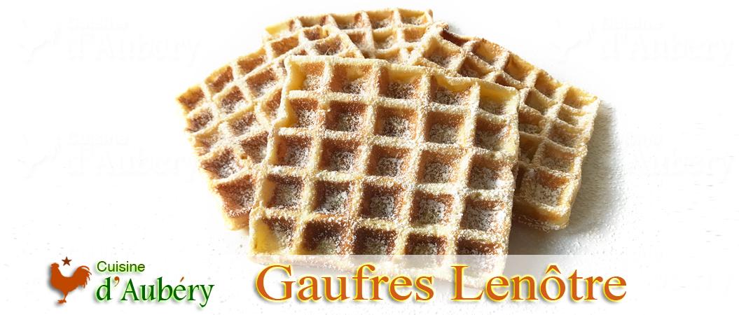 Les gaufres de Lenôtre (méthode 2 : pâte à choux)