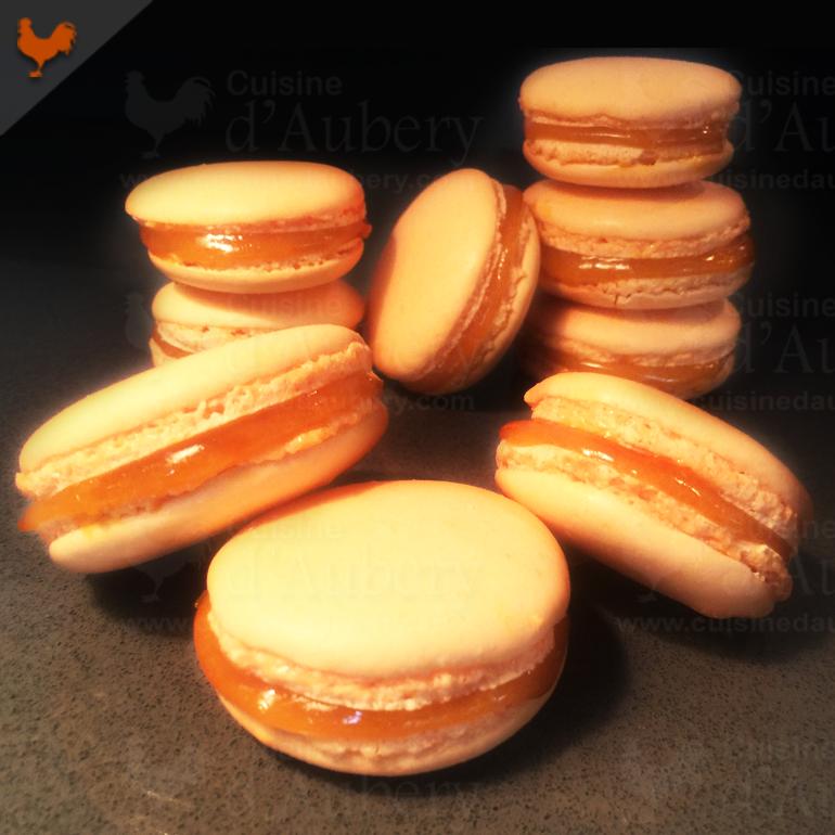 Les délicieux Macarons Mangue Passion (recette de M.O.F)