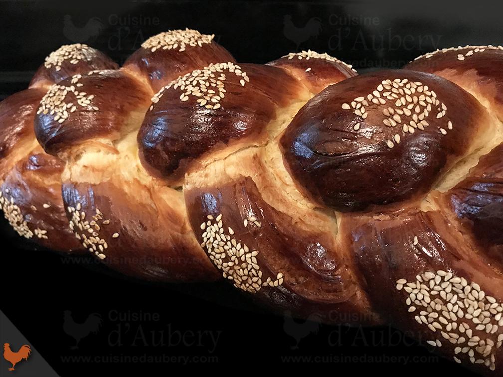 Brioche Tressée Challah (ou Hallah)