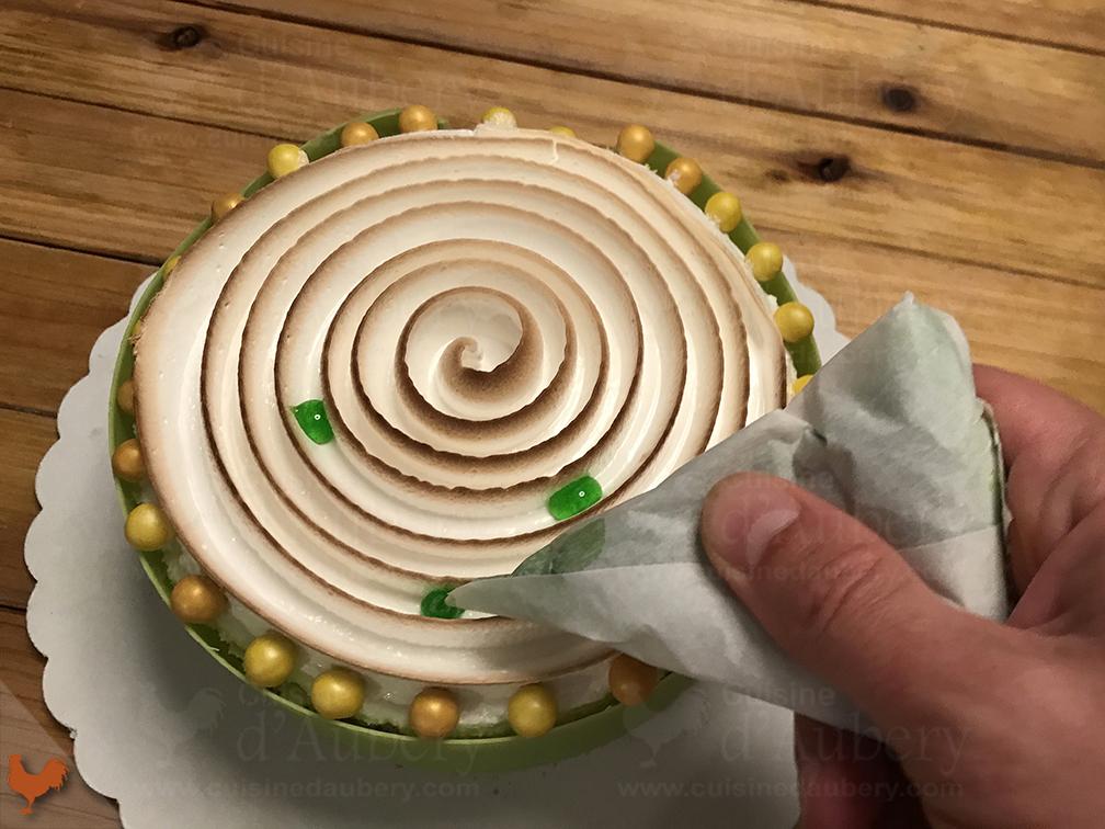 Gâteau Citron Vert Mangue Meringué