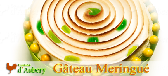 Le Gâteau Citron Vert Mangue, Meringue Tourbillon