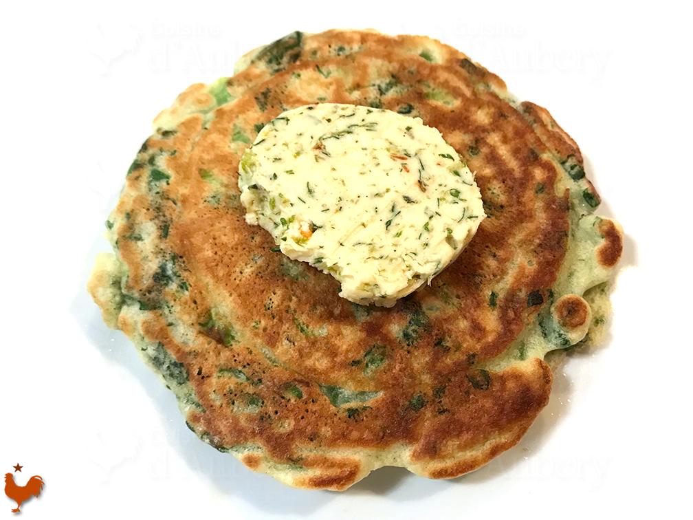 Yotam Ottolenghi's Green Pancakes