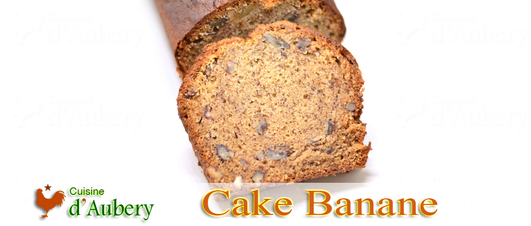 Le Cake Banane aux Noix et Sirop d'Erable (comme au Starbuck de Seattle)