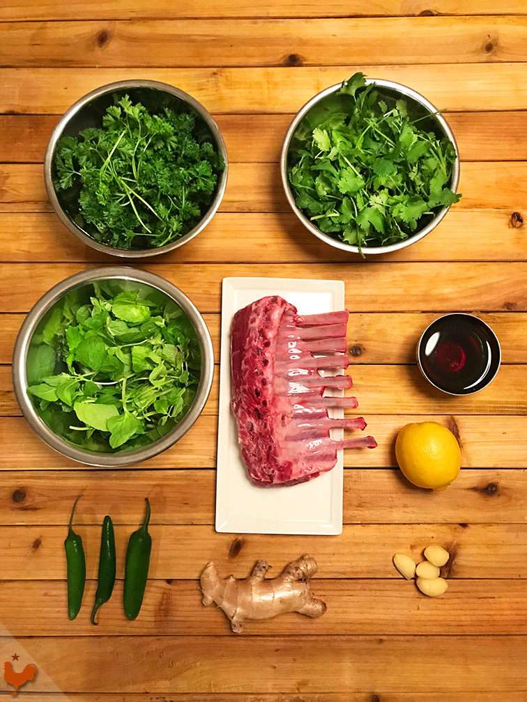 Cilantro and Honey Rack of Lamb