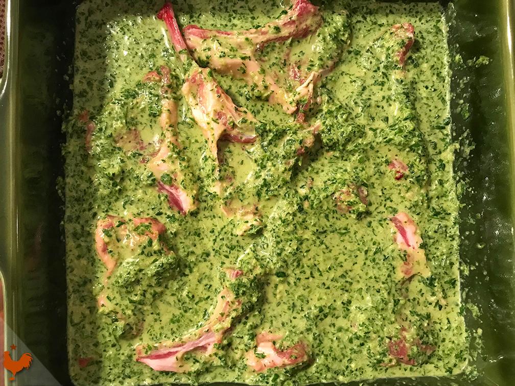 Côtelettes d'Agneau à la Coriandre, Herbes et Miel