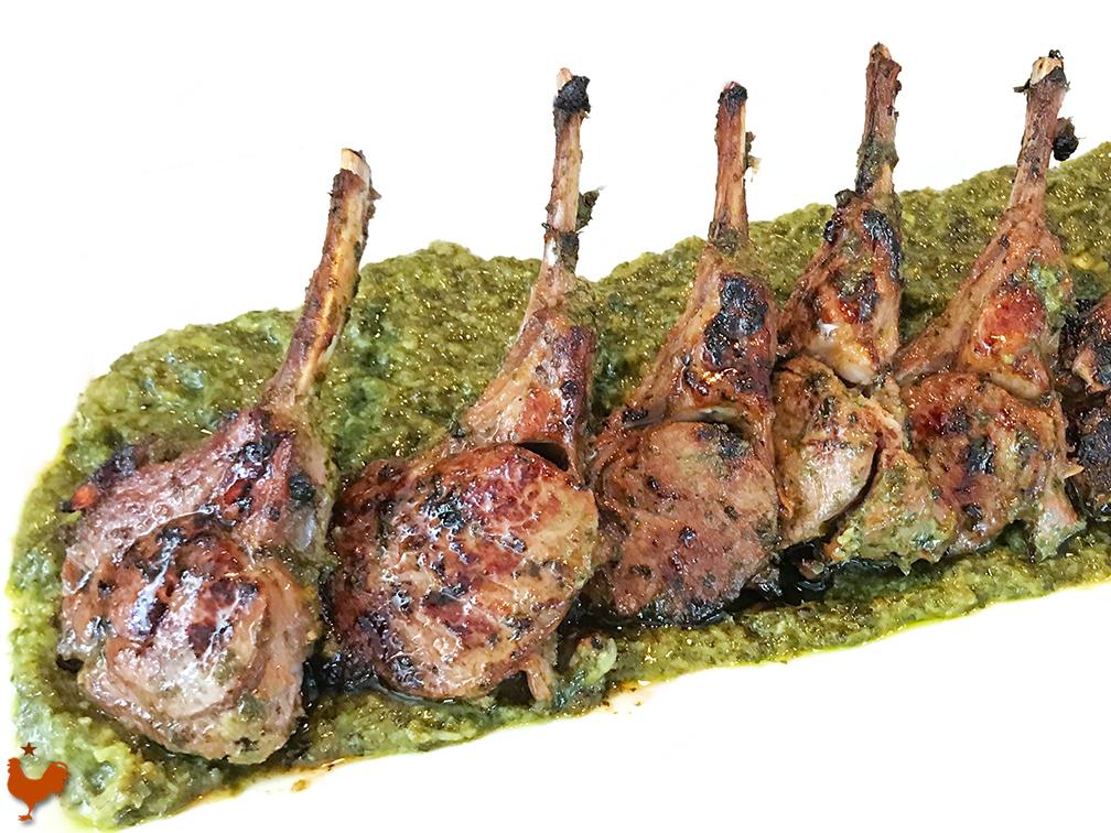 Cilantro and Honey Rack of Lamb