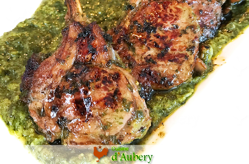 Ottolenghi's Marinated Rack of Lamb with Cilantro and Honey