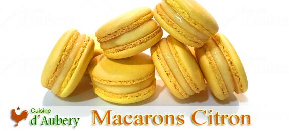 Les «toujours appréciés» Macarons Citron de M.O.F Stéphane Glacier