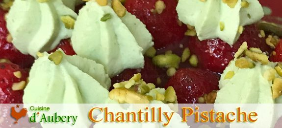 La Crème Chantilly Epaisse à la Pistache de Christophe Michalak (ganache montée)