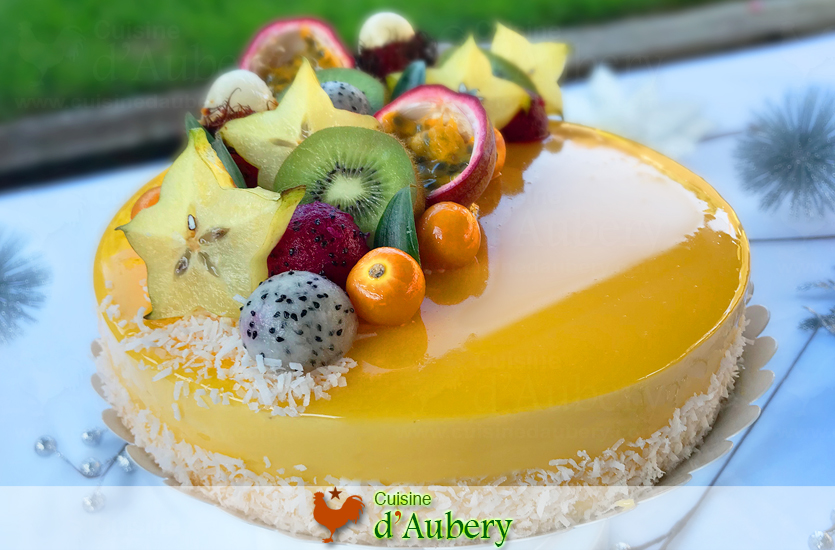 L'Entremets Exotique (Mangue, Passion, Noix de Coco)