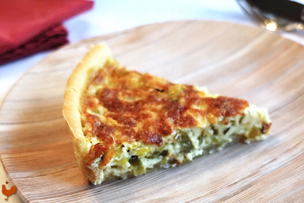 Leeks Quiche of Julia Child